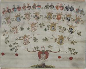 Aufschwörungstafel Stift Steterburg, 1748 [Niedersächsisches Staatsarchiv Wolfenbüttel: Neu 3 Stet Zg. 63/2004 Nr. 785]