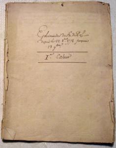 1_Couverture du premier cahier des Éphémérides de Latapie