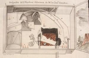 7_Perspective de la machine vésuvienne de l'ambassadeur Hamilton réalisée par Latapie à Naples en 1776