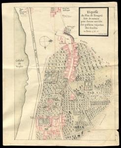 6_Plan de Pompéi réalisé de mémoire par Latapie en février 1776