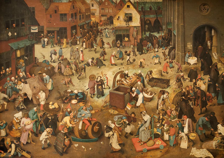 Le combat de carnaval et de carême. Pieter Brueghel l'Ancien